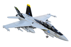 LX F-18 Twin 70mm EDF Jolly Rogers RC Jet With Retracts Kit Version