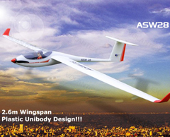 Lanyu ASW28 2.6m/103'' Unibody Scale RC Glider (759-1) Ready-To-Fly