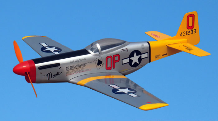 P 51d Mustang Electric 33 5 Rc Airplane Arf General Hobby