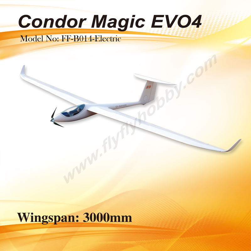 Flyfly Condor Magic Evo4 3m 118 Electric Rc Glider